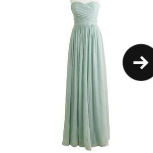 Jcrew Bridesmaid Arabella dress in dusty green